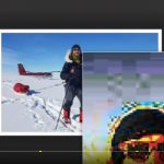 Antarktika, Davor Rostuhar, lažne fotografije i piksel razotkrivanje